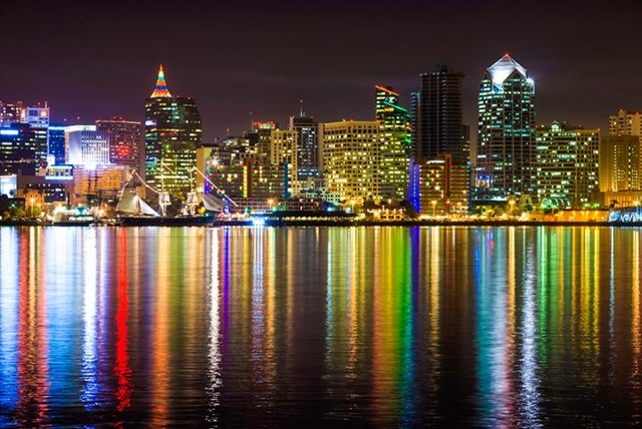 Stunning Christmas views of San Diego