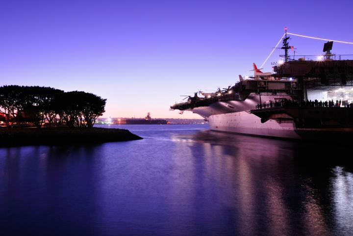 U.S.S. Midway during the Parade of Lights