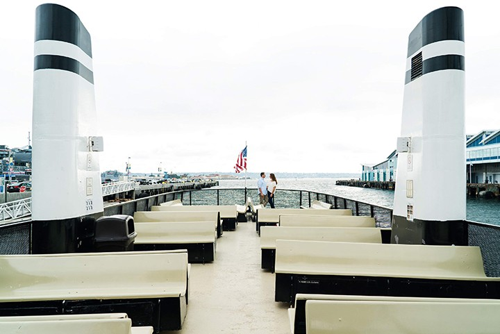The deck of the Cabrillo