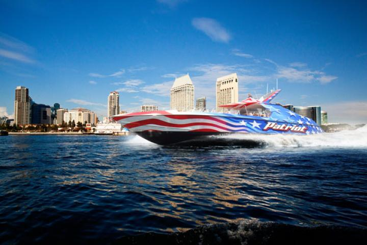 Patriot Jet Boat view of Downtown San DIego