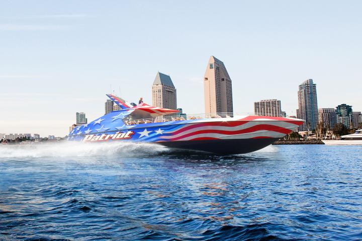 Patriot Jet Boat on the San Diego Bay