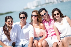Friends and family enjoying a Private Yacht
