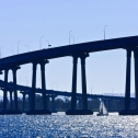 Coronado Bridge on a San Diego Harbor Tour