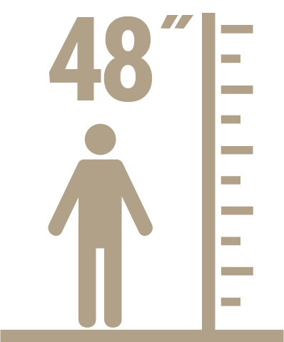 Children Must Be 48 inches (122cm) or Taller