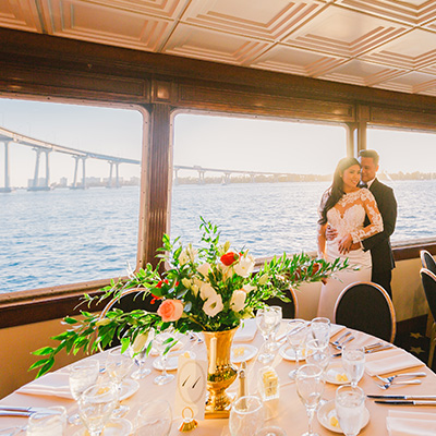 Wedding decor on California Princess